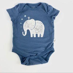 "Gap ""Elephant"" organically grown cotton onesie"